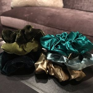 Accessories - Velvet and Satin hair scrunchies
